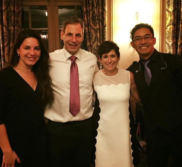Singers with the newlyweds