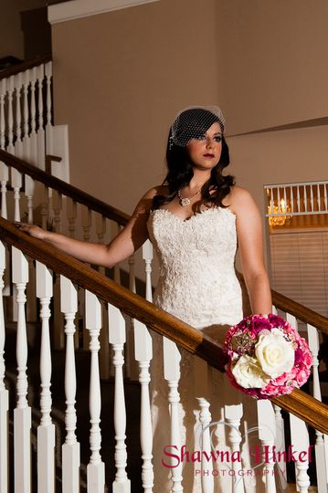 Bride at the staircase