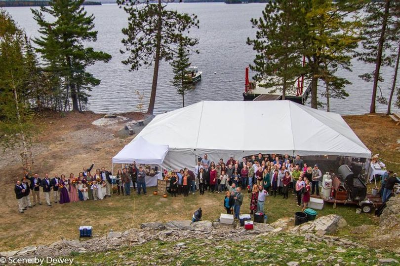 Tent in front of Loons Ledge