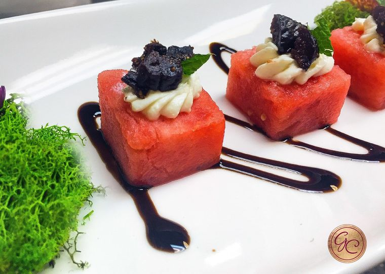 Compress Watermelon with Balsamic