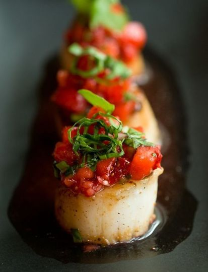 Seared Sea Scallop with Tomato Concasse