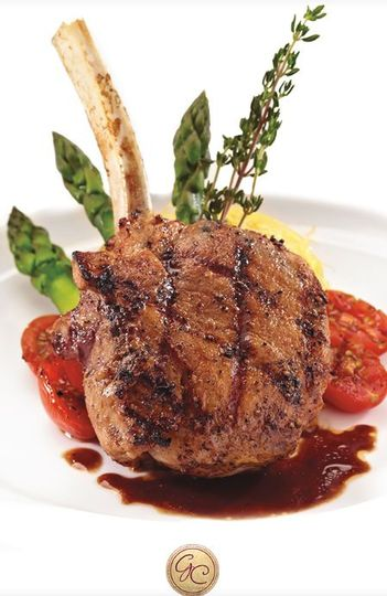 Frenched Veal Chop with Blackberry Demi Glace
