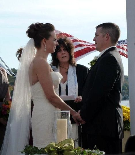 Speaking their vows