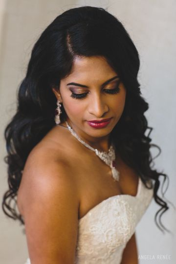 Rita wedding closeup