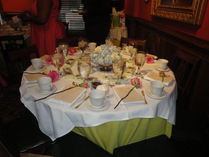 Vibrant table settings