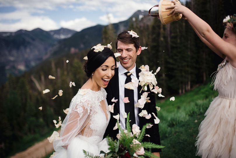 """Right after saying, """"I do!"""""""