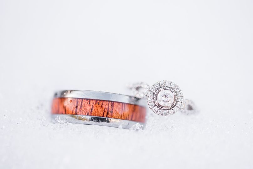 Snowy Engagement Rings
