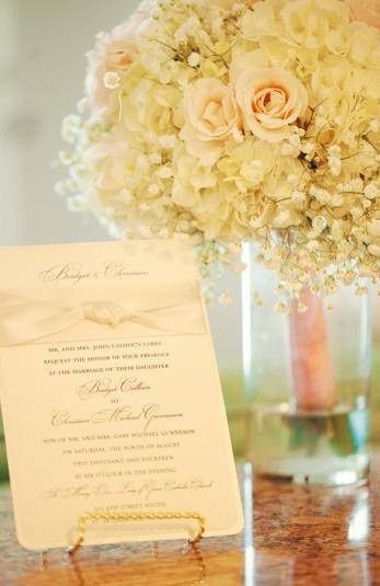 Wedding card and floral decor