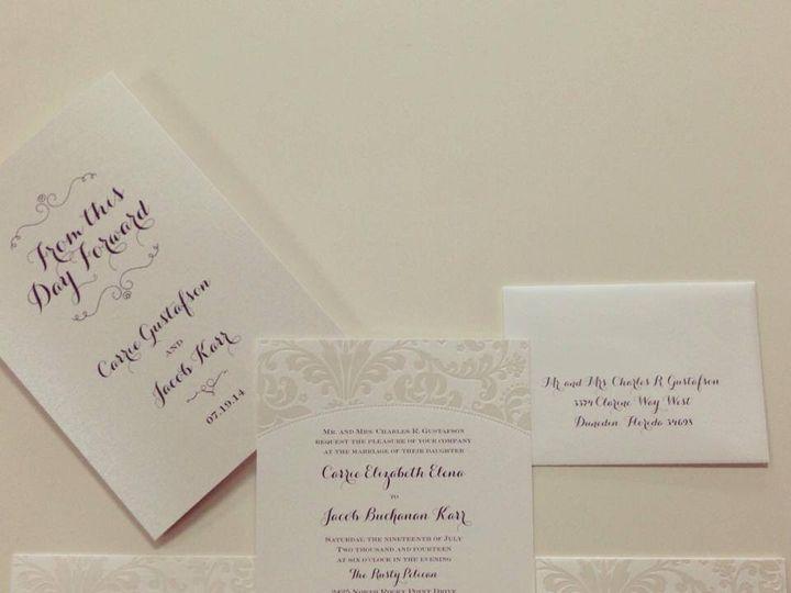 Tmx 1413482911377 K4 Palm Harbor, Florida wedding invitation