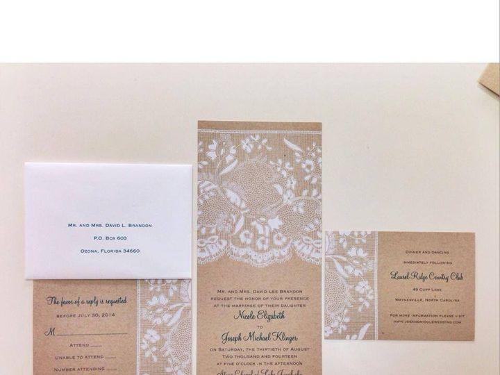 Tmx 1413482923503 K7 Palm Harbor, Florida wedding invitation