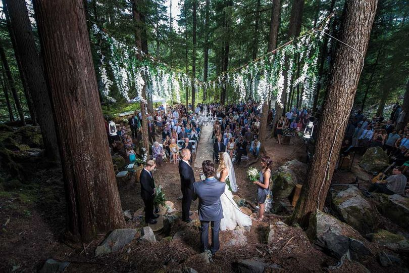 Loved this forest wedding