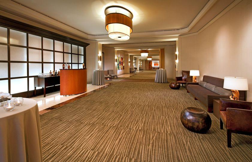 grand ballroom foyer setup