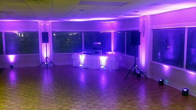 DJ set up with up light