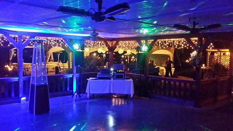 DJ set up with up light