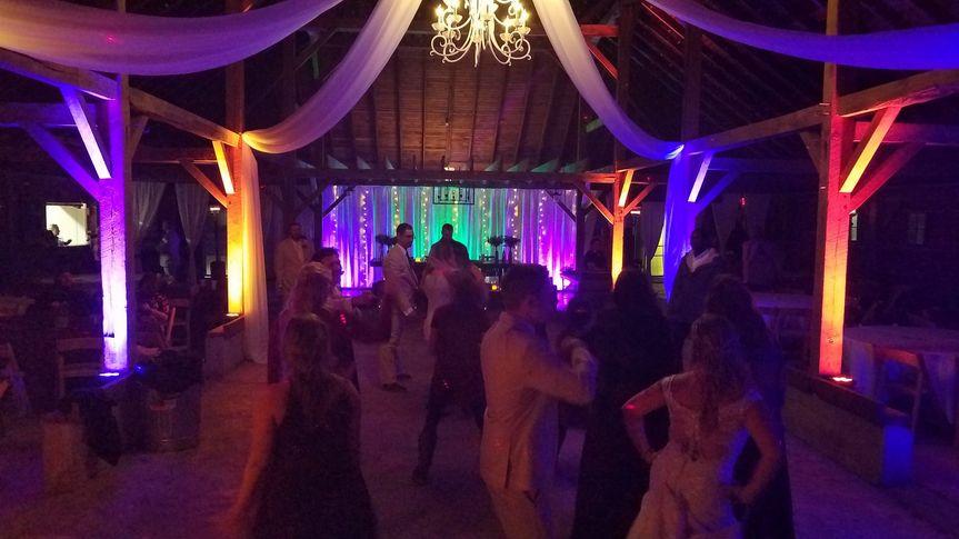 Wedding with Rainbow Uplightin