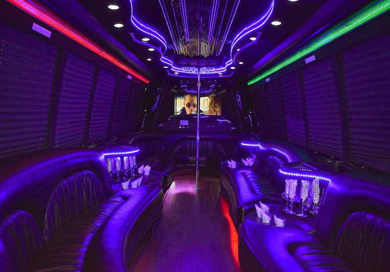 Party Bus Interior Rear