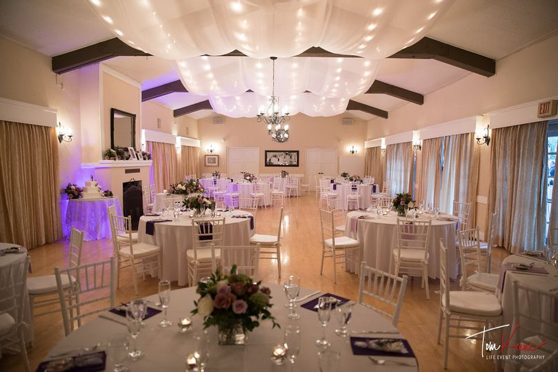 Ballroom with draping