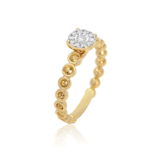 Solitaire setting 18K diamond