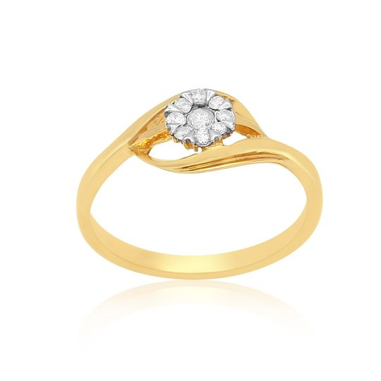 Elegant 18K gold ring