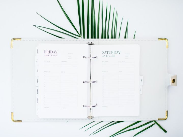 Bridal Boss Planner Friday and Saturday