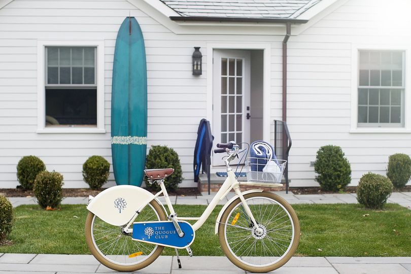 Borrow a Quogue Club bicycle to check out the village or take a ride to the nearby