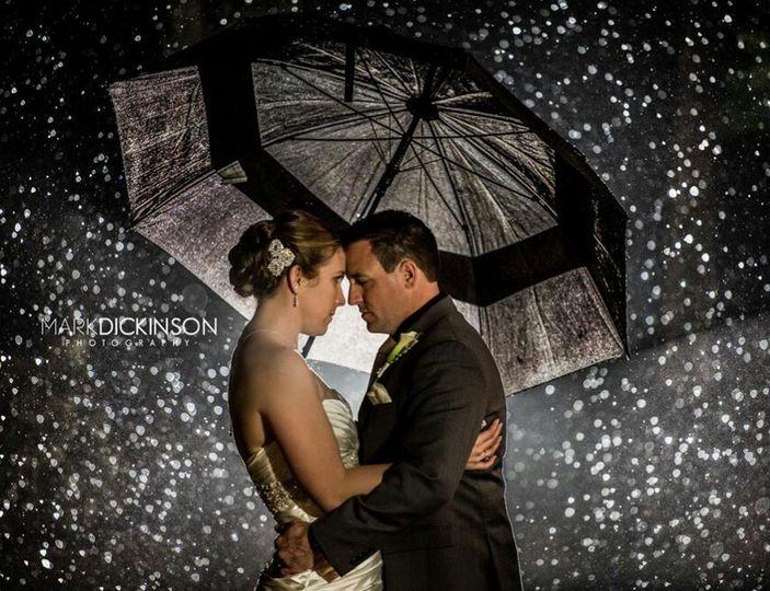 Rain shot of couple