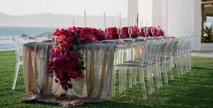 Elaborate floral design