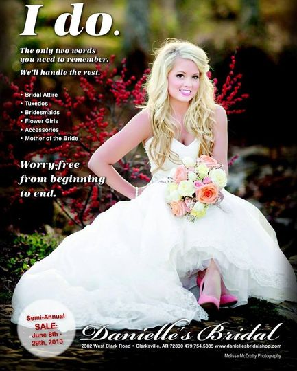 Danielle 39 s bridal reviews ratings wedding dress for Wedding dress preservation little rock ar