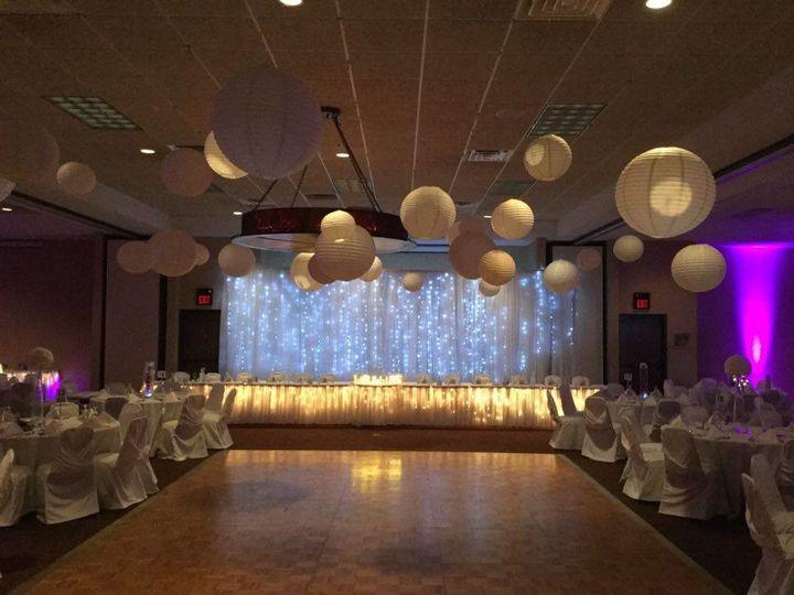 Reception/Dance floor setup