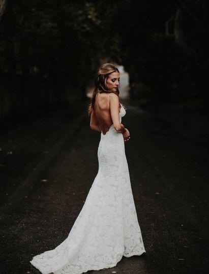 Elegant dress with low backline