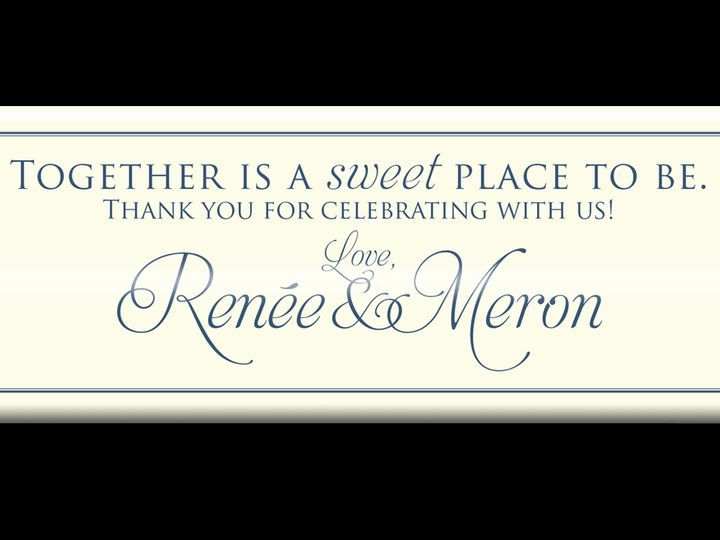 Tmx Renee And Meron 51 1012953 Hershey, PA wedding favor