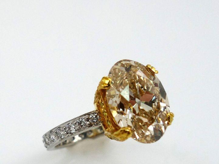 Tmx 1493414566619 Cognac Oval Diamond Engagement Ring Miami wedding jewelry