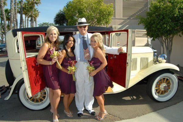 Someone has to drive the girls around on wedding day. Fun fun fun. Call Lance at Antique Car...
