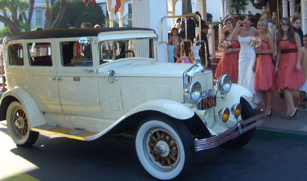 Hotel Del Wedding Coronado Island with my 29' Durant. Call now Haynes Antique Car Chauffeuring...