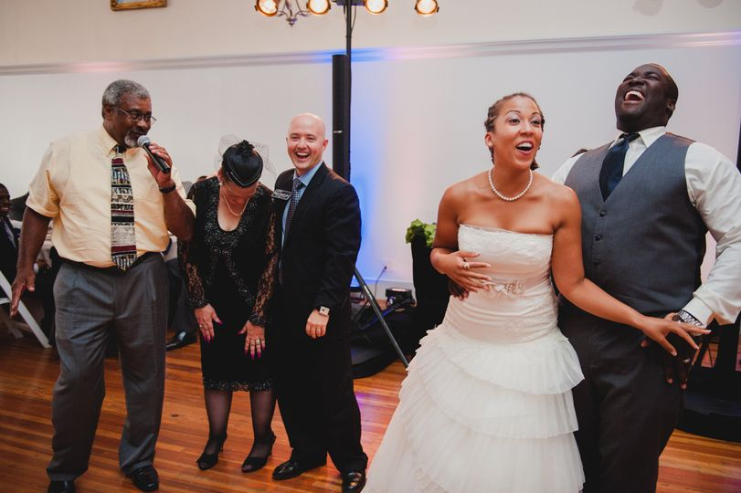 Dancing with the newlyweds