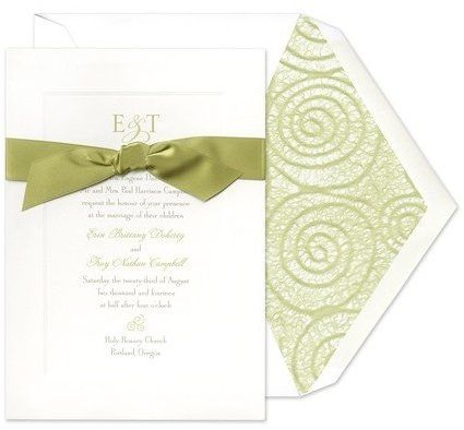Tmx 1335678410038 Oliveribbonweddinginvitations Littleton wedding invitation