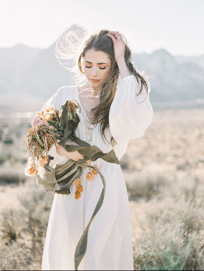 elopement wedding bride california desert 01 51 755953 158409317740412