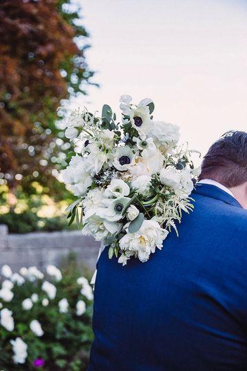 White Peony bride's bouquet