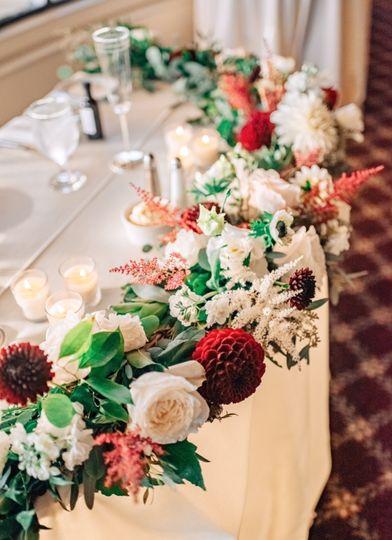 White Centerpieces with Roses, Anemones, Spray roses, Lysimachias, Lisianthus, Ranunculus, Dusty...