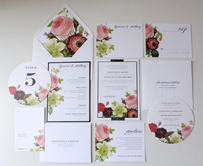Floral invitations