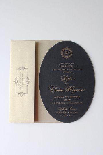 Black and cream invitation
