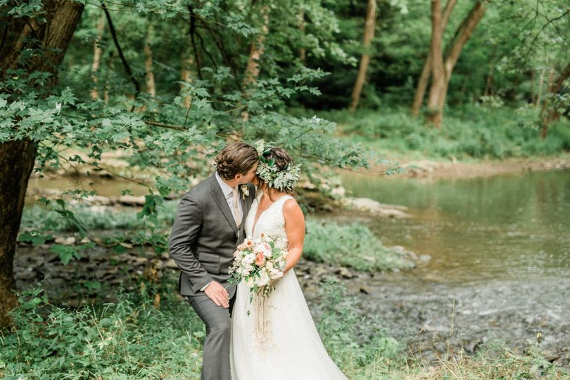 Couple at creek.