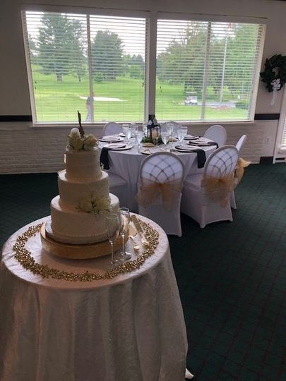 A recent cake with views from the Terrace Room