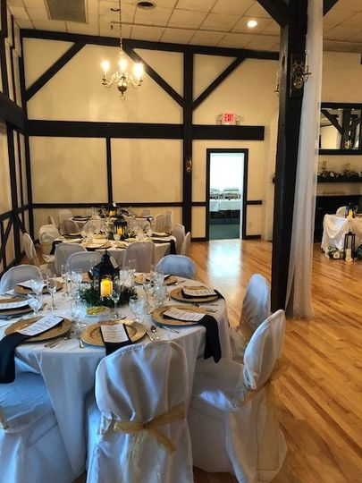 A side view of our Ballroom. We have barn doors that can open to the terrace room.