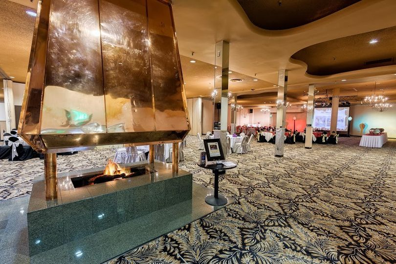 Our main banquet hall where we host receptions. Photo credit, Erskine Photography.