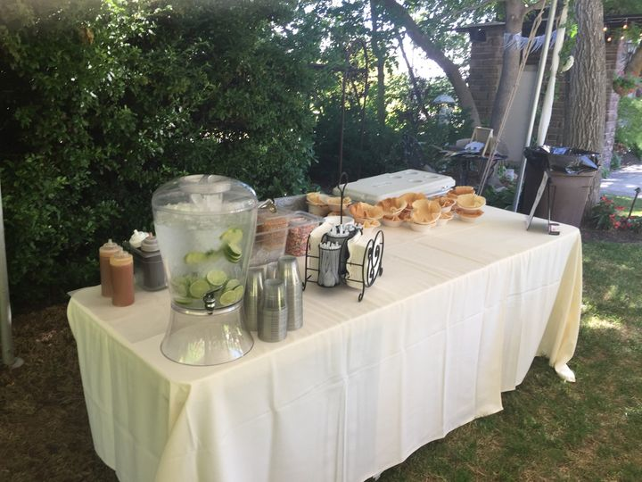 Wedding serving table