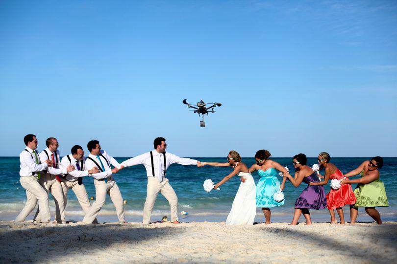 Wedding virtual reality drone