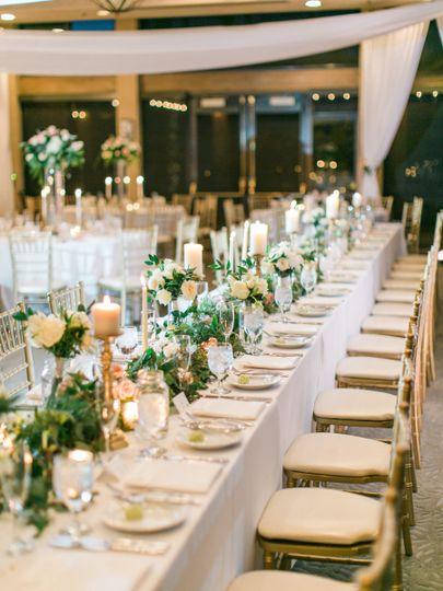 Long table setup | Rachel Solomon Photography