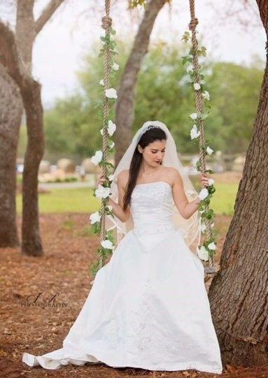 Bride in the swing