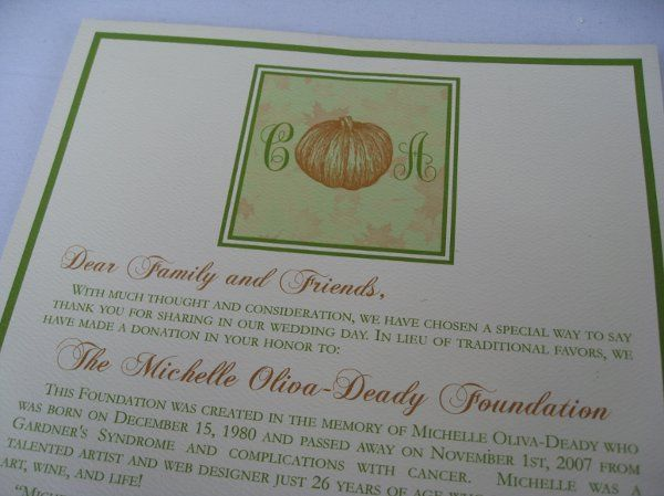 Donation Card Fall theme